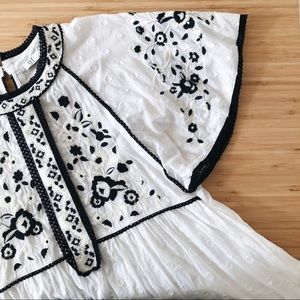 Zara TRF Collection Boho Embroidered Dress